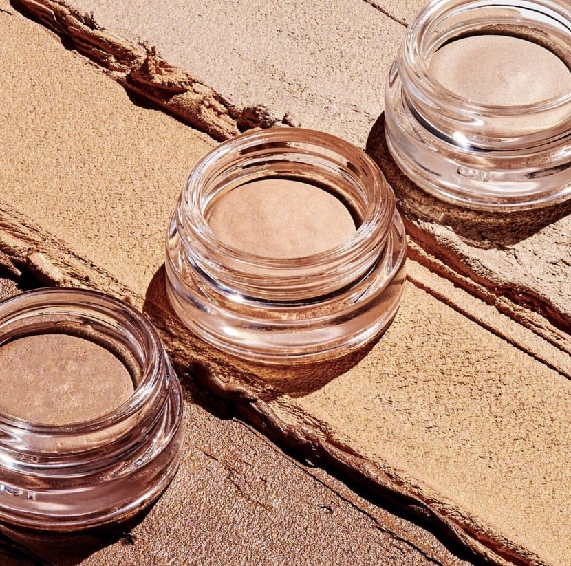 Three shades of the Shimmershade Eyeshadows from Supergoop