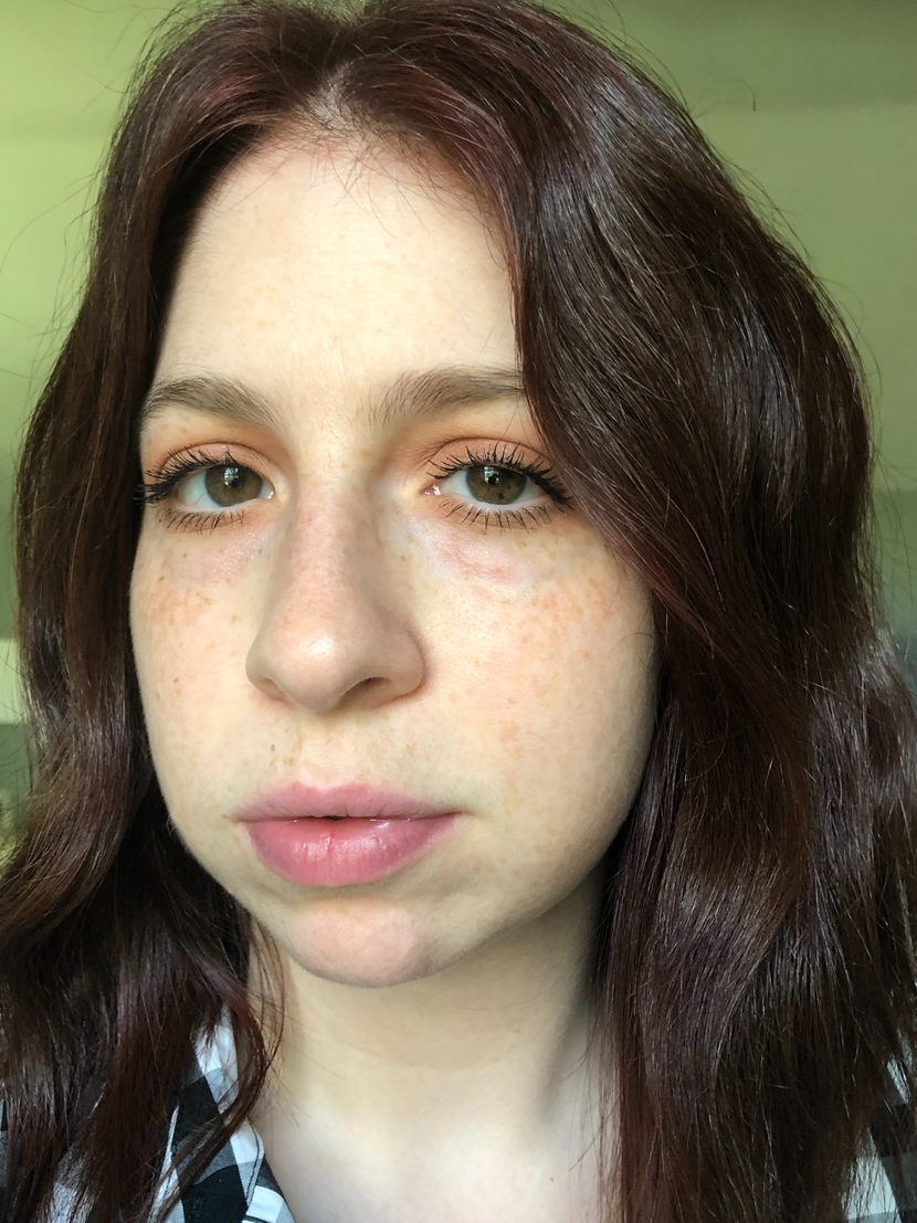Before shot - pre-application of Chantecaille Future Skin Foundation