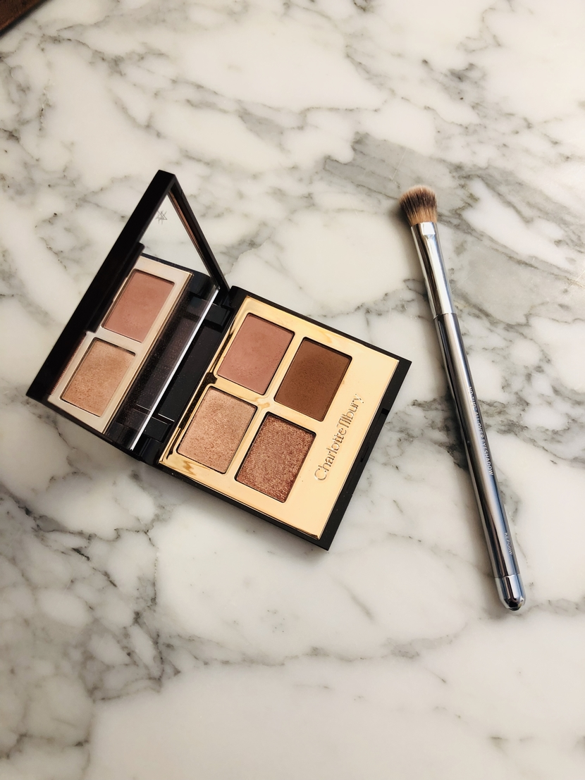 Charlotte Tilbury Pillow Talk Palette, interior showing 4 shades