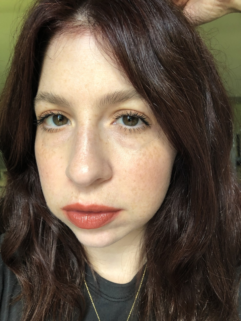 Makeup look with bolder terracotta lip - inspired by change