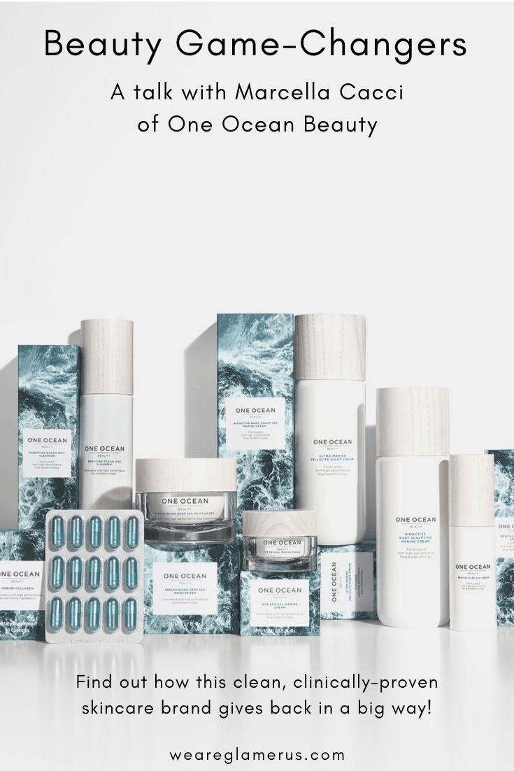 Check out my interview with CEO and founder Marcella Cacci of One Ocean Beauty