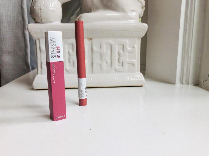 Maybelline SuperStay Ink Crayon (right); Maybelline SuperStay Matte Ink Liquid Lipstick