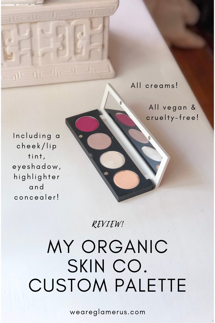 I created my own custom palette with products from the all vegan, all cruelty-free, natural beauty brand, The Organic Skin Co. Here are my thoughts on their concealer, cream blush, eyeshadow & highlighter!