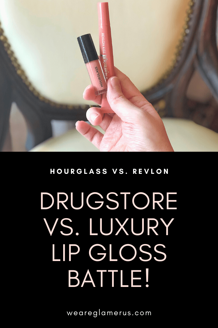 I'm comparing the luxury Hourglass Unreal High Shine Volumizing Lip Gloss to the affordable Revlon Kiss Plumping Lip Creme! Which wins out??
