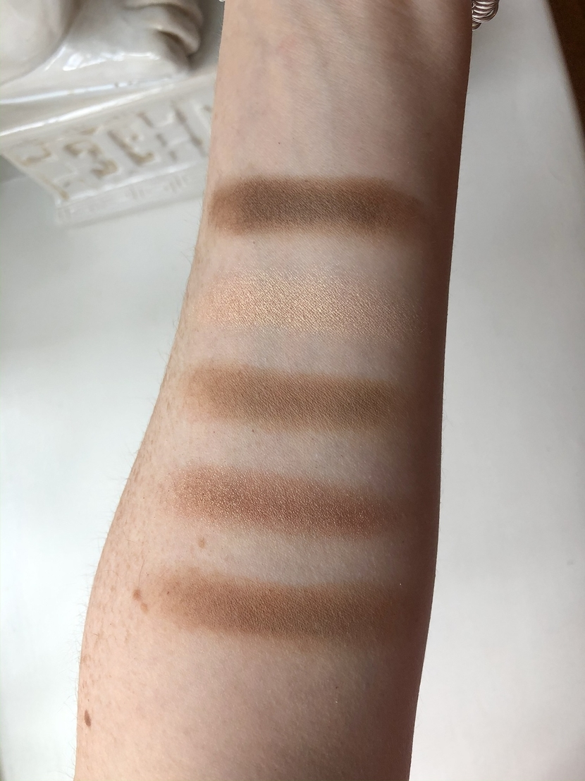 Swatches of Natasha Denona Camel Palette