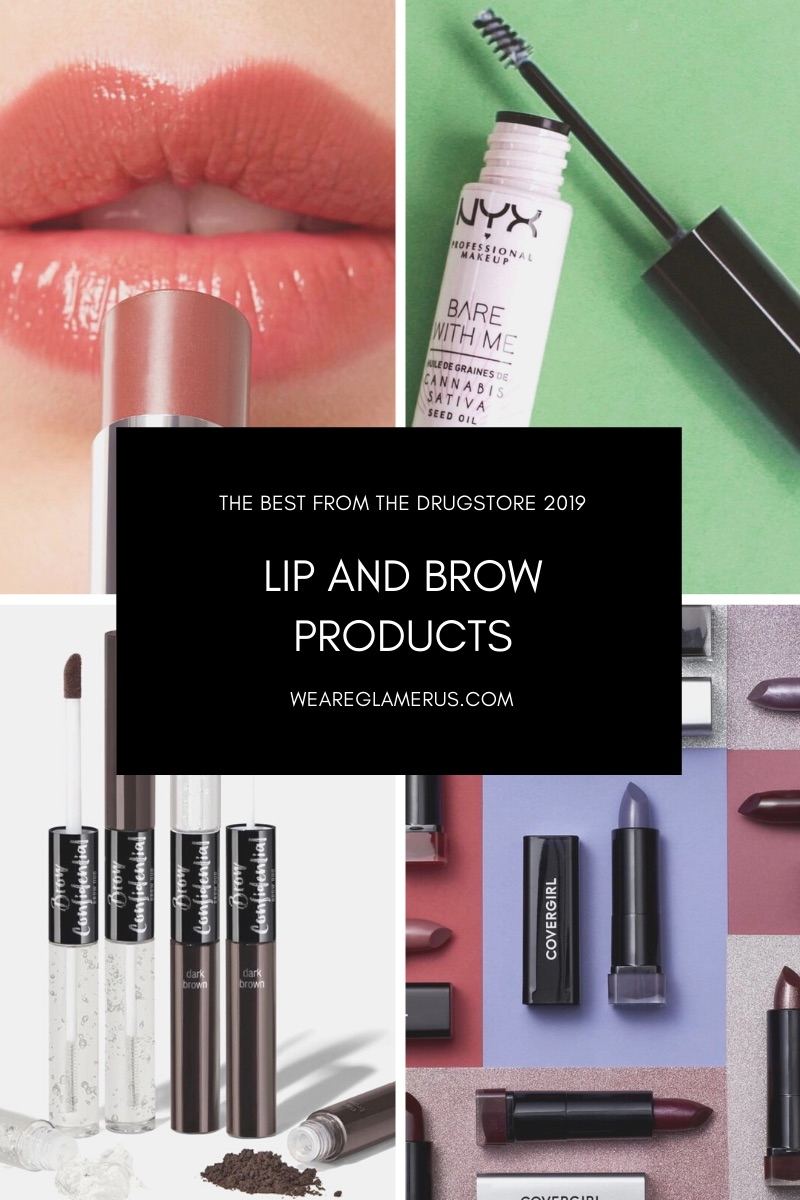 Check out my recommendations for the best drugstore lipsticks & brow products of 2019!