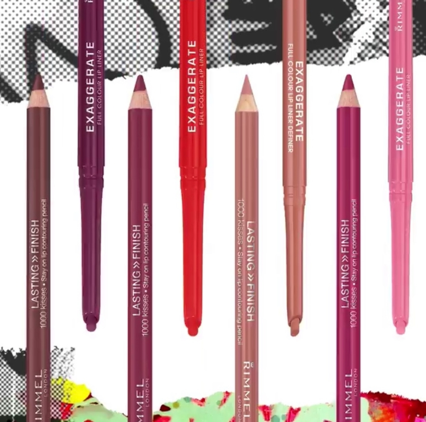Rimmel Exaggerate Lip Liner - best drugstore lipsticks & brow products 2019
