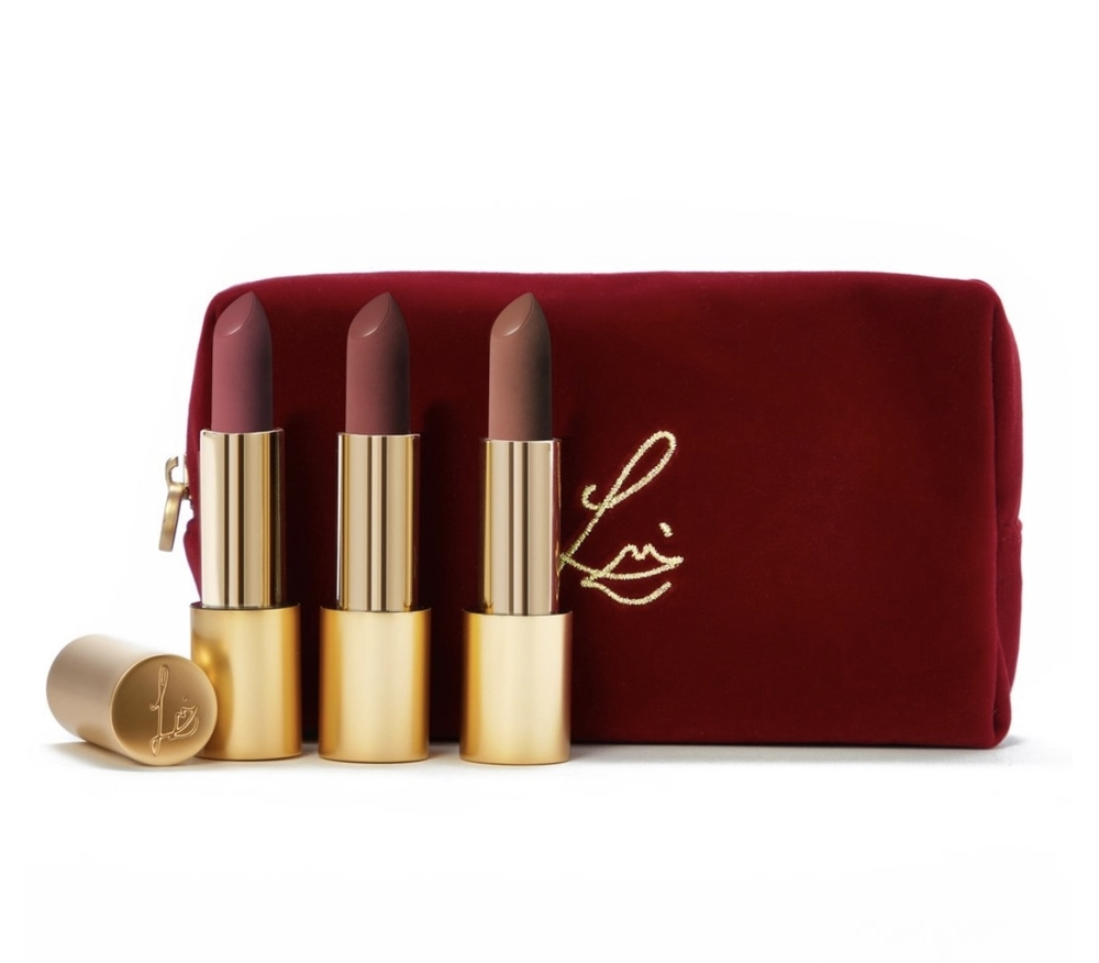 Lisa Eldridge's True Velvet Lipsticks (3 with velvet pouch)