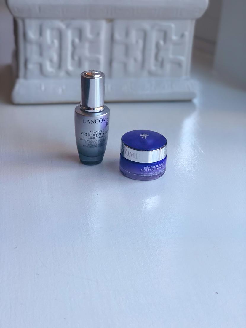 Lancome Advanced Genifique Yeux Light Pearl & Lancome Regenerie Lift Malt-Action Eye Cream