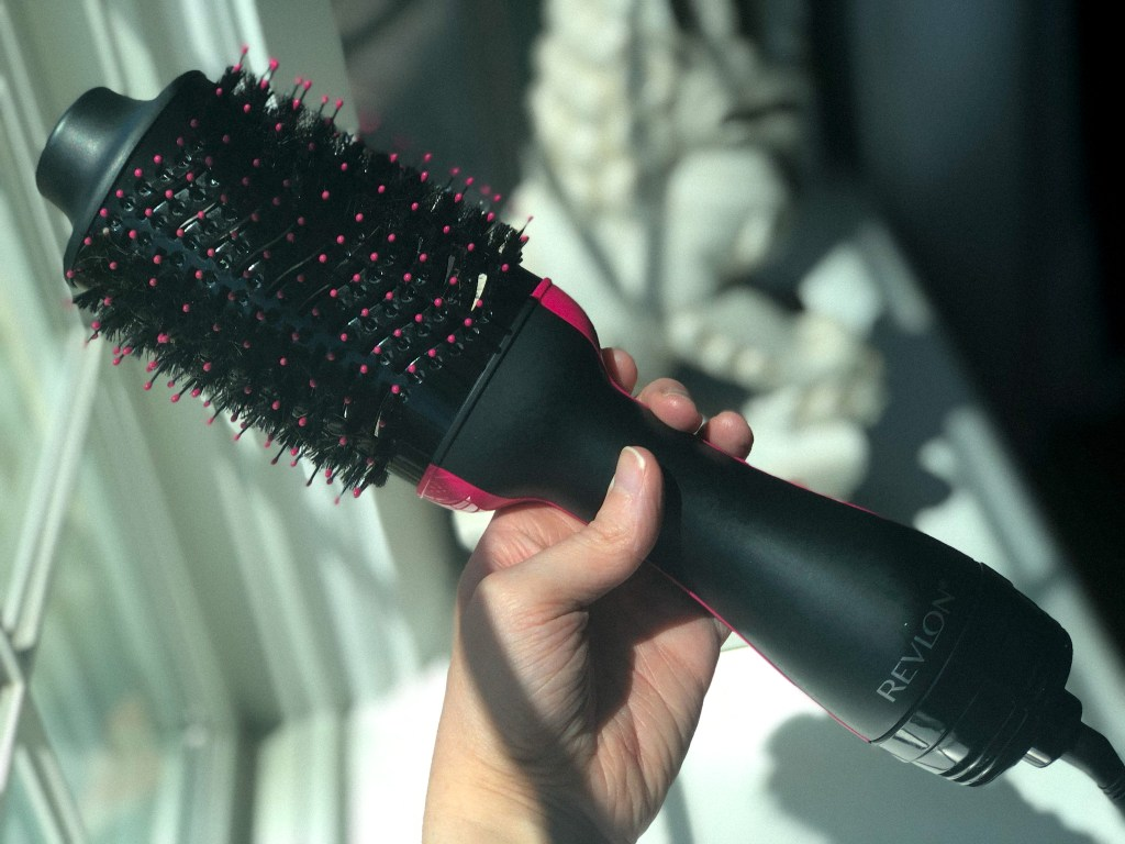 The Revlon One-Step Hair Dryer and Volumizer gives a salon blowout at home