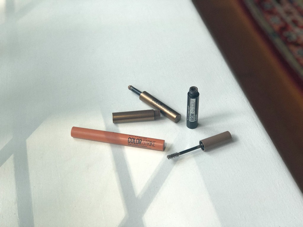 new launches from Maybelline including Color Strike Eyeshadow Pens & Brow Fast Sculpt