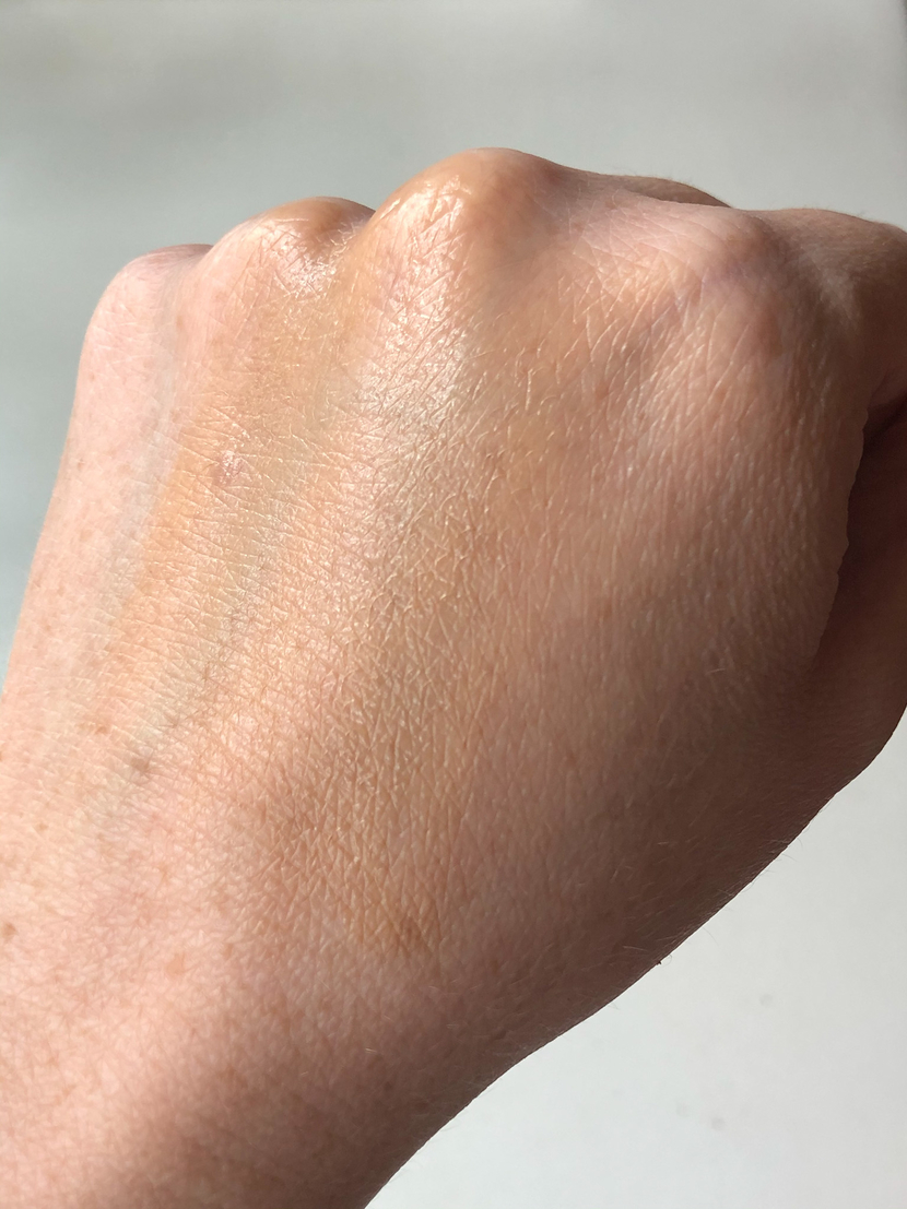 La Roche Posay Anthelios Mineral Tinted Sunscreen for Face SPF 50, rubbed into the back of my hand