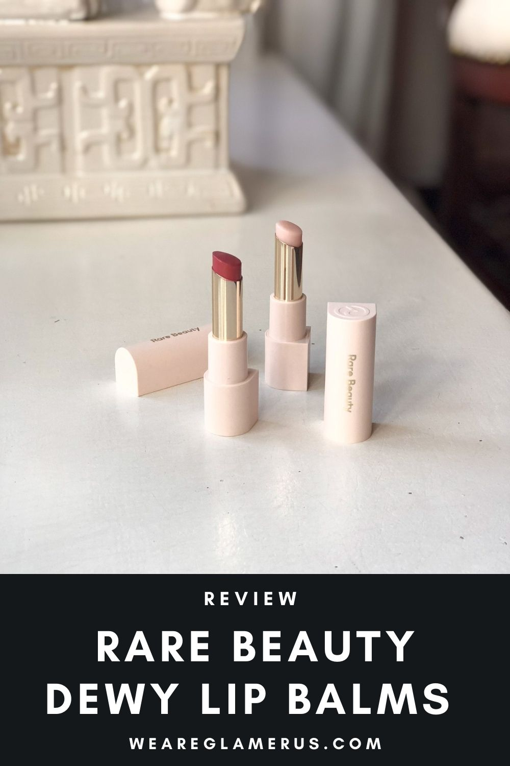 Check out my review of the Rare Beauty Dewy Lip Balms in the shades Honor & Empathy in today's post!