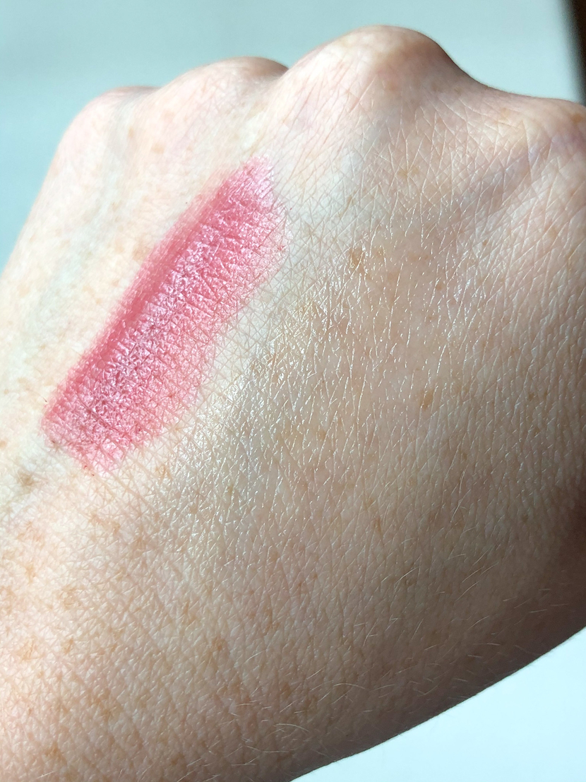 Swatches of moisturizing lippies from Rare Beauty