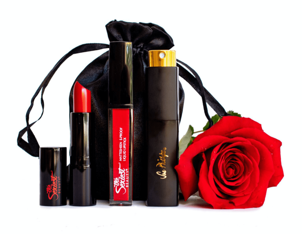 Sue Phillips x The Sexiest Beauty perfume & lipstick collaboration