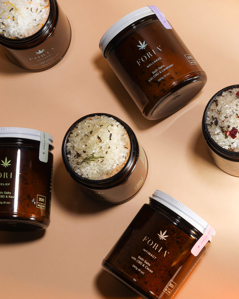 Editor Claire McCormack Picks Foria Intimacy Bath Salts with CBD & Caco