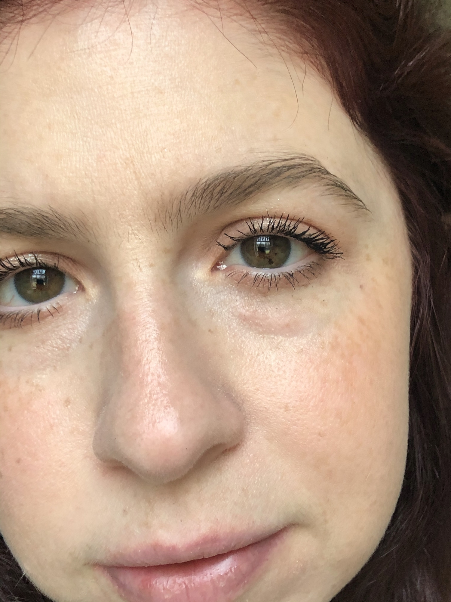Wearing two coats of the Maybelline Sky High Mascara