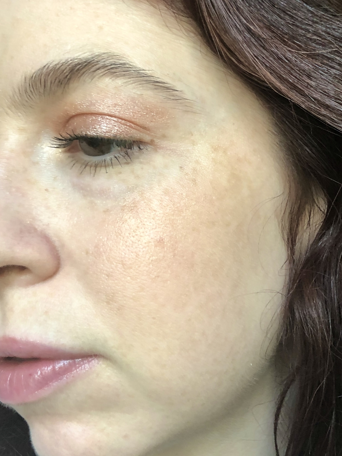 My cheek makeup featuring Dome Beauty Cheek Envy Blush in English Rose, and Luminary Glow Powder Highlighter in Majestic