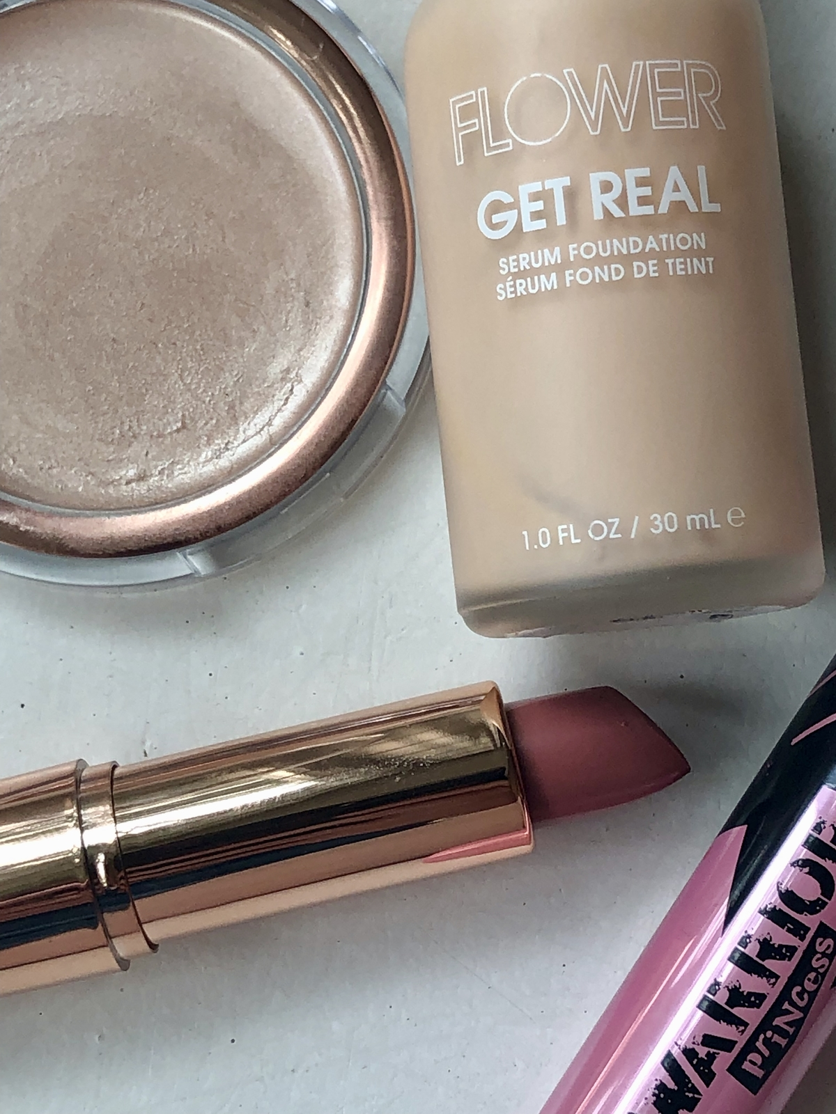 Close up on some of my favorite affordable products from Flower Beauty