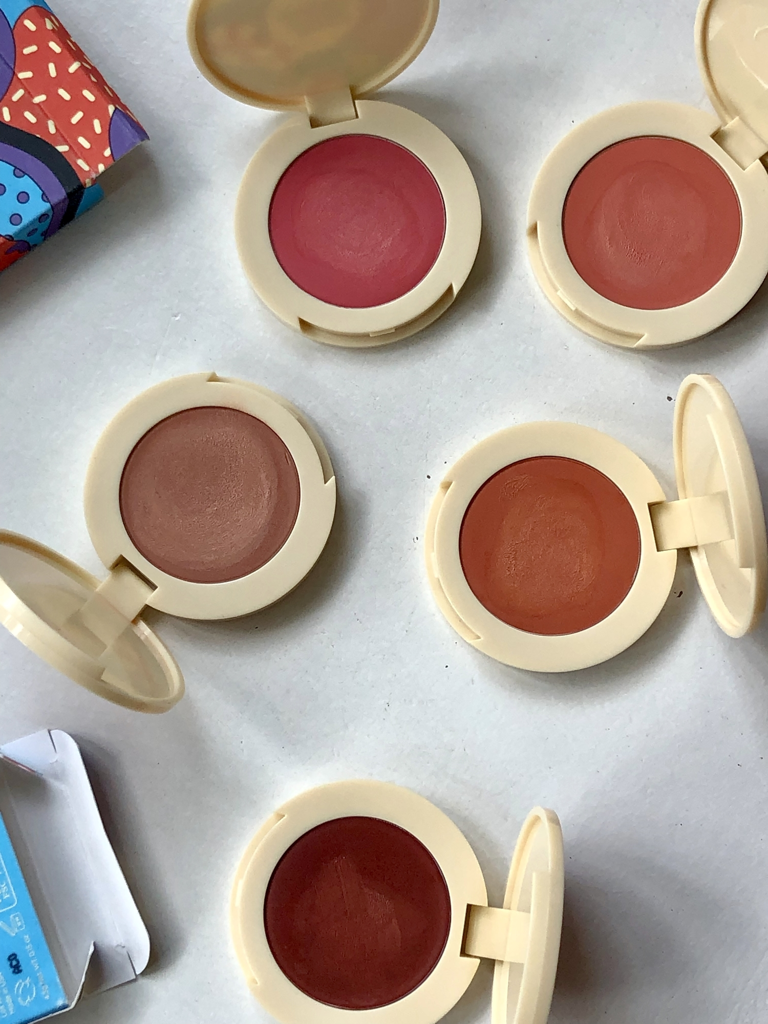 The Jamie Makeup Blightlighter collection, featuring five different shades