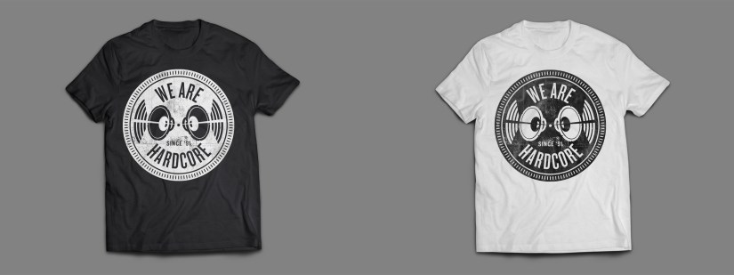 Jay Cunning - WE ARE HARDCORE T-Shirt - WHITE & BLACK