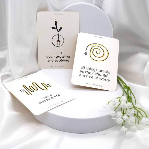 multiple affirmation cards