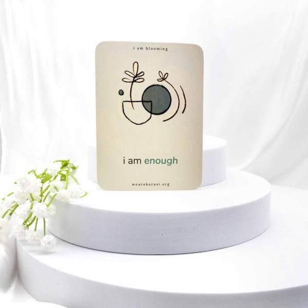 i am enough card