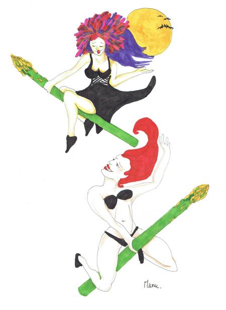 Tagliatelles aux pointes d'asperges Witches Asparagus