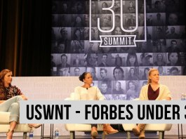 Women's Soccer France - FORBES under 30 summit - égalité - Alex Morgan - Shannon Boxx - Julie Johnston