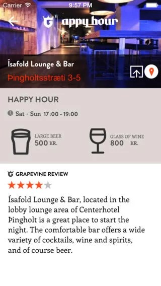 Reykjavik Happy Hour App
