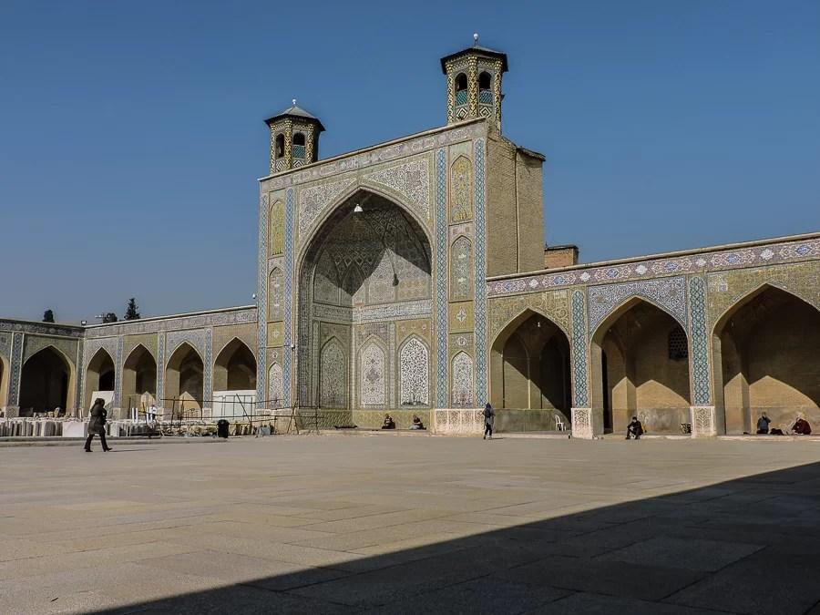 La moschea all'interno del bazar di Shiraz durante il nostro tour