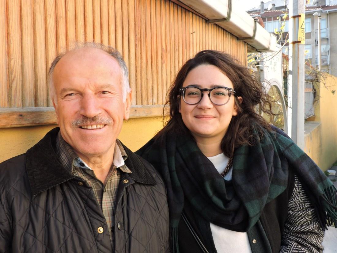 Alì, un signore conosciuto passeggiando per Uskundar, che ci ha offerto un passaggio per vedere istanbul dal parco della moschea Camlica