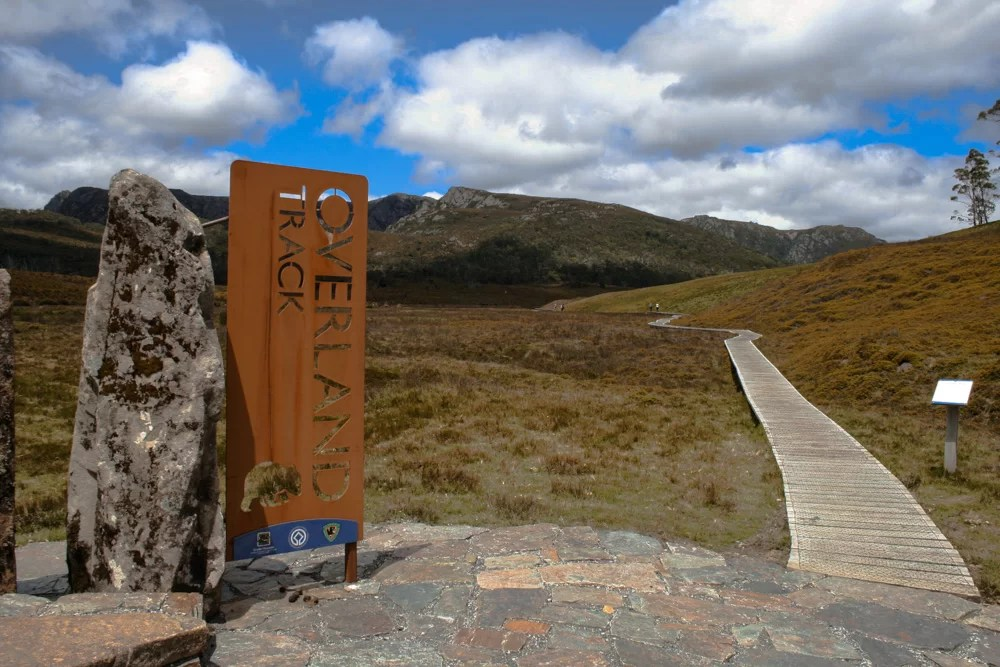 L'overland track attraversa le Cradle Mountains in Tasmania