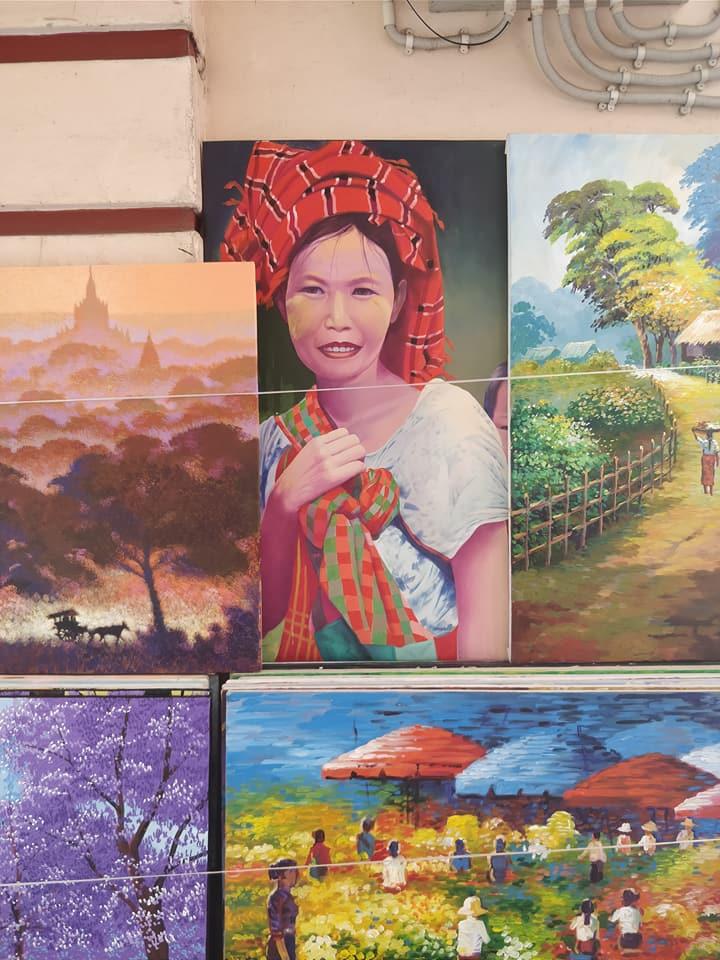quadri folkloristici a Yangon