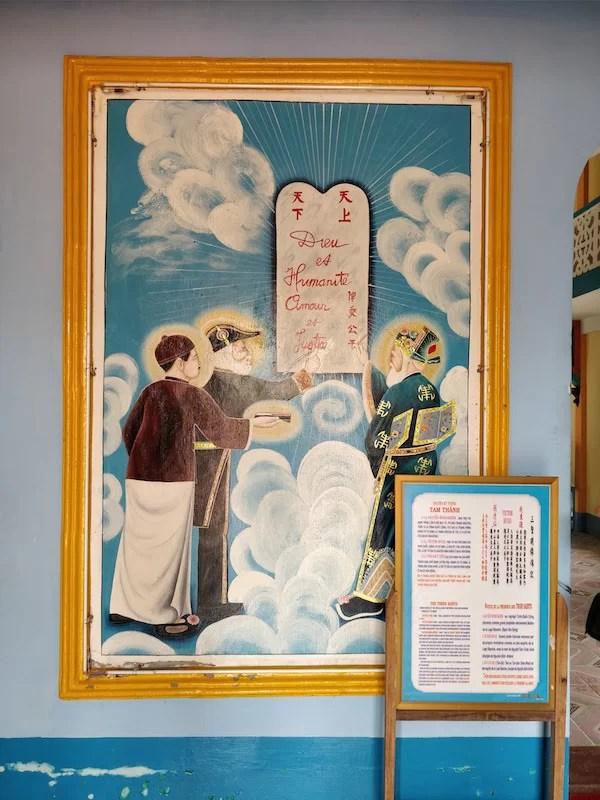 Tempio Codaista: un dipinto che rappresenta anche Victor Hugo