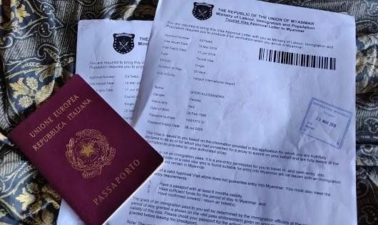 visto per il Myanmar elettronico turistico (e-visa)