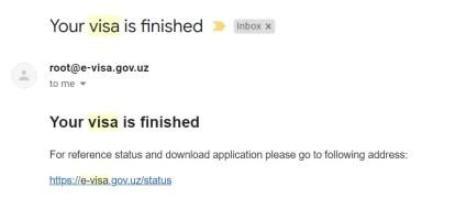 uzbekistan vi ha concesso il visto elettronico