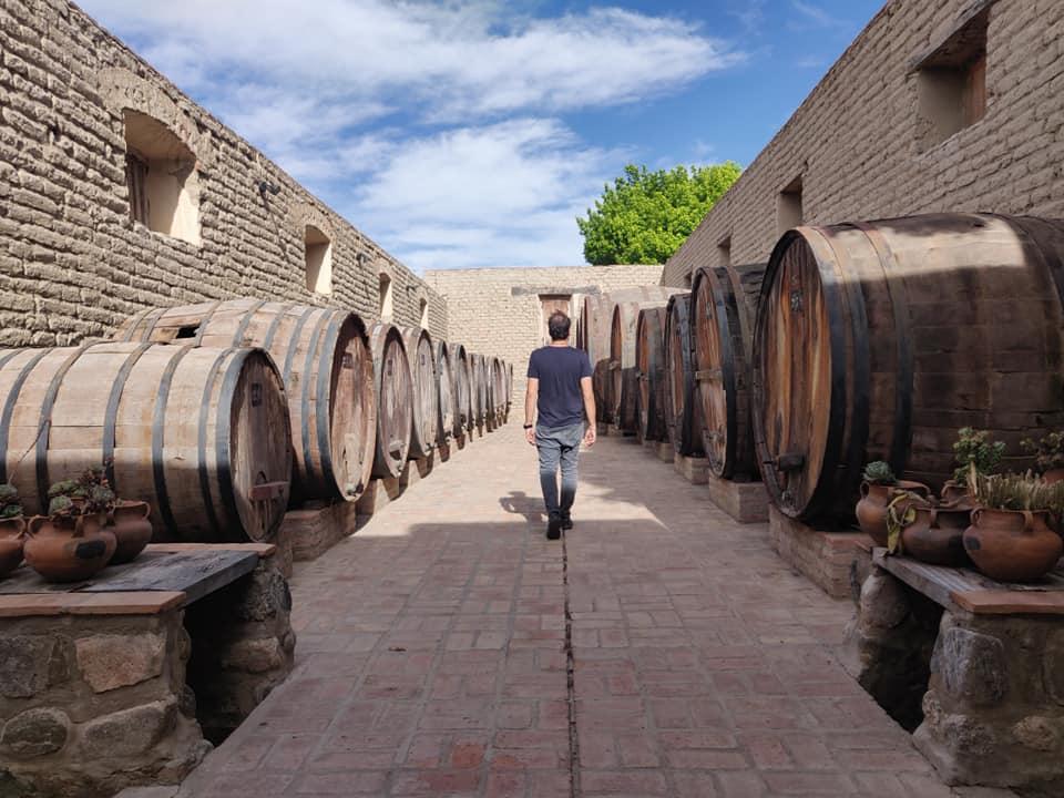 cantina nel centro storico di cafayate. il vino è sempre presente