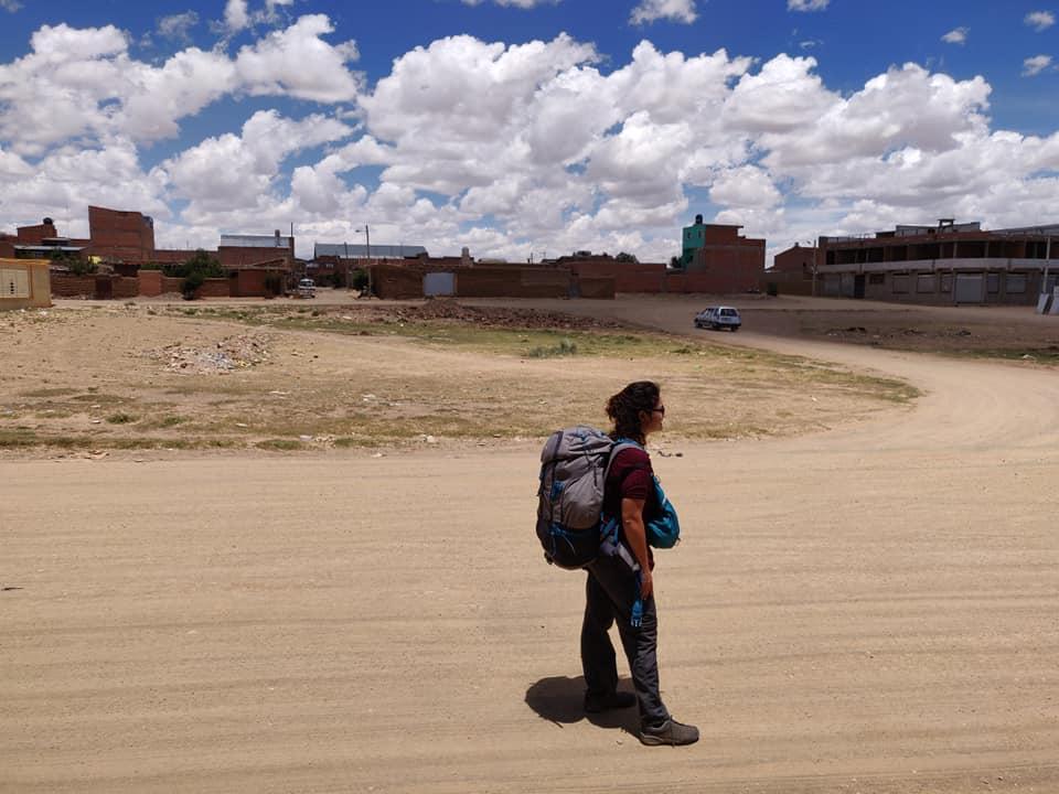 una via di Villazon in Bolivia