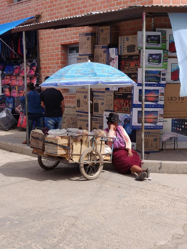 venditrice addormentata a Villazon