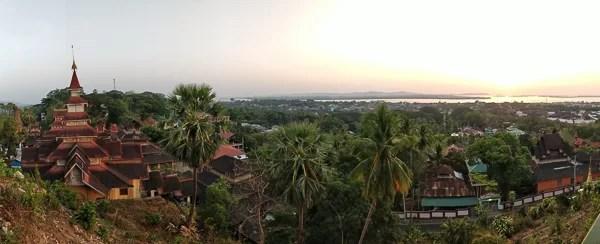 Il tempio di Mawlamyine prima dei monsoni
