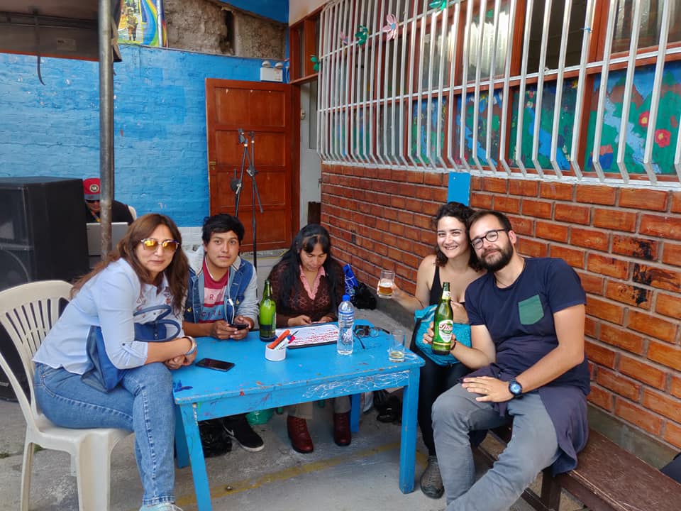 la gran pollada bailable ad Ayacucho ed i nostri nuovi amici