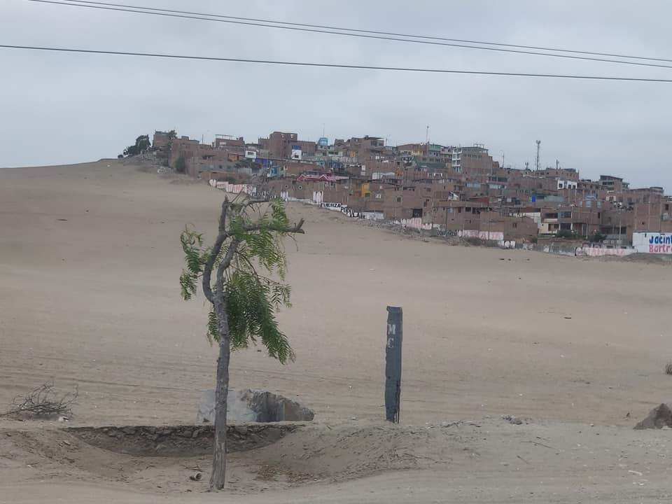 Lima Sur dalle parti del santuario archeologico del Pachacamac