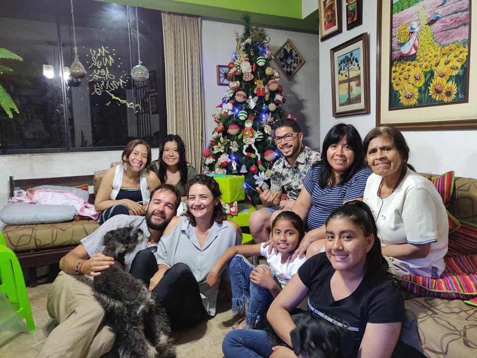 Natale a casa di Paula e la sua famiglia a Villa Maria del Triunfo, Lima