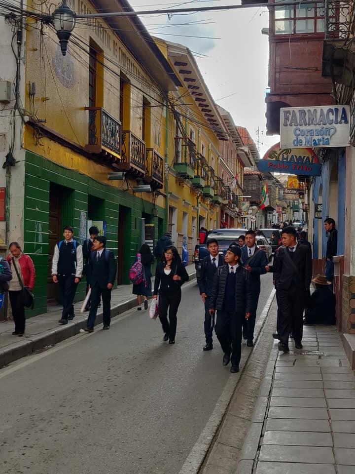 Le vie del centro di Potosi in bolivia