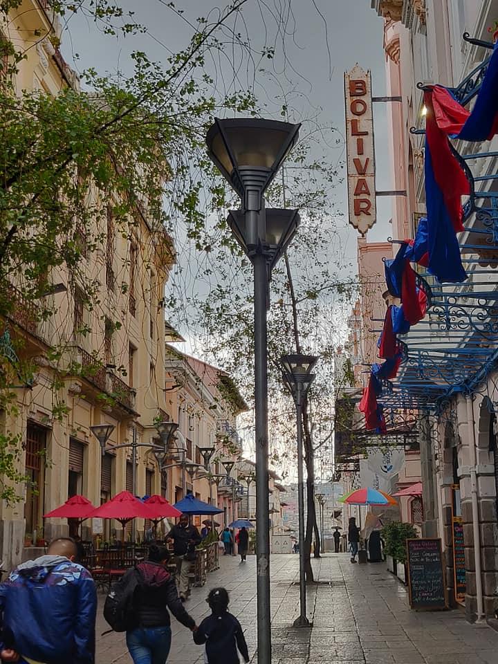 Le vie del centro storico di Quito