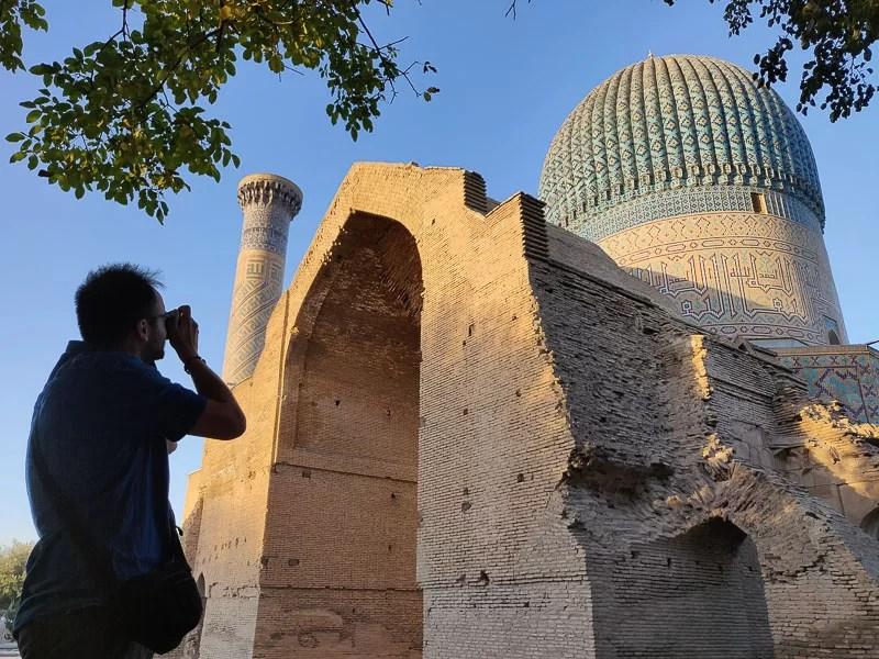 Complesso monumentale Gur-e Amir a Samarcanda durante il nostro Uzbekistan tour