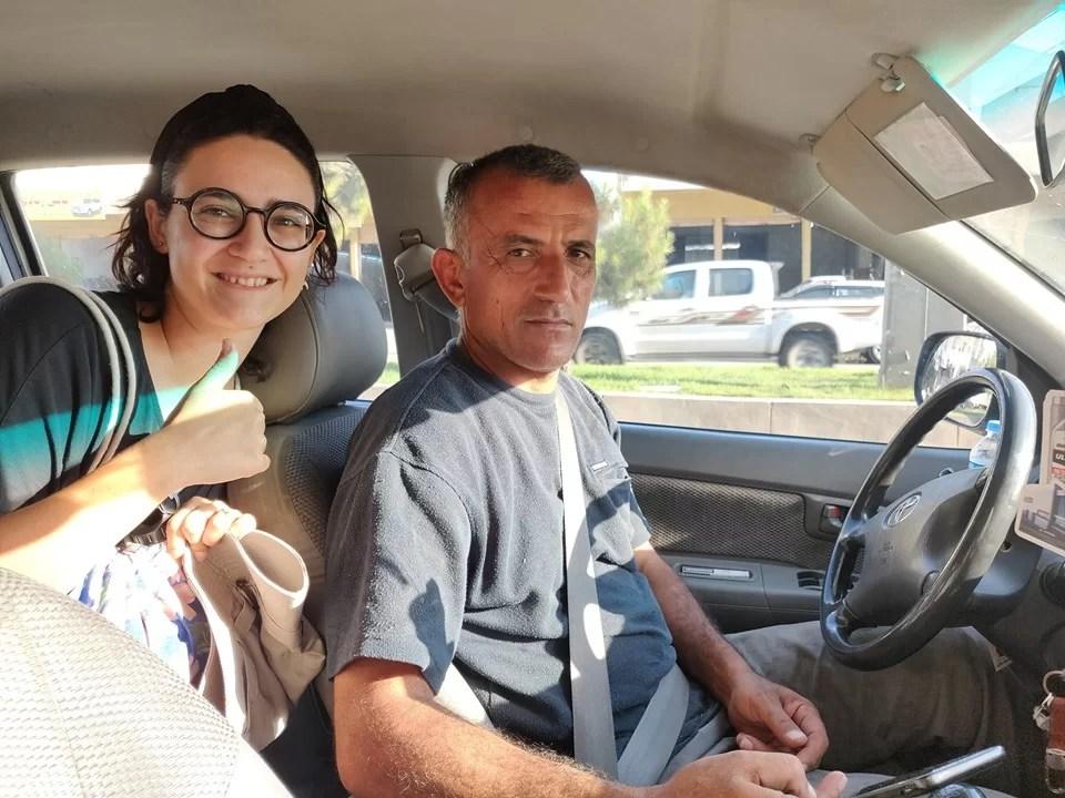 Il nostro santo protettore che ci ha portato in macchina da Amedhi a Dohuk, di professione taglialegna di alberi Spindar