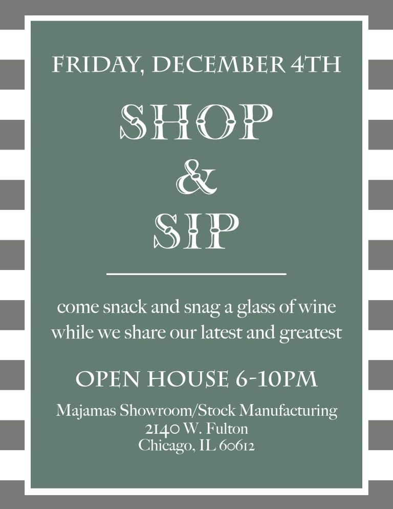 MAJAMAS Shop & Sip Invite 1