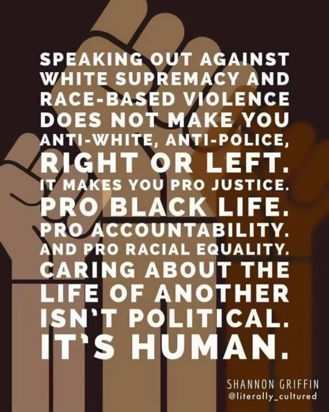 Black Lives Matter Anti Racism Quote